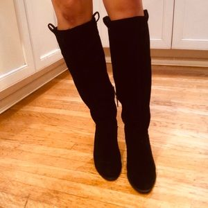 Ugg Knee High Black Suede Boots